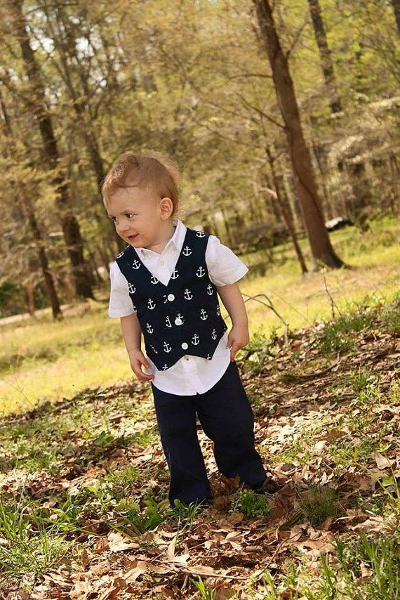 Hey, I found this really awesome Etsy listing at https://www.etsy.com/listing/229638504/boys-vest-and-pants-boys-nautical-vest