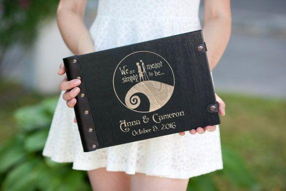 Свадебные Гостевая книга, Хэллоуин, Fall Свадьба, гостевая книга, Труп невесты…