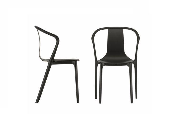 Sedia impilabile in poliammide con braccioli BELLEVILLE AMRCHAIR PLASTIC by Vitra