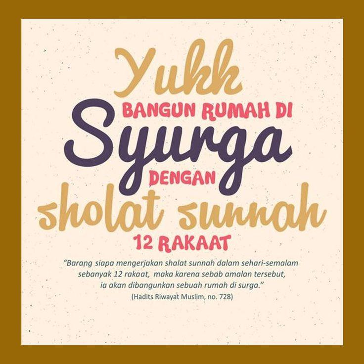 http://nasihatsahabat.com #nasihatsahabat #mutiarasunnah #motivasiIslami #petuahulama #hadist #hadits #nasihatulama #fatwaulama #akhlak #akhlaq #sunnah  #aqidah #akidah #salafiyah #Muslimah #adabIslami #DakwahSalaf # #ManhajSalaf #Alhaq #Kajiansalaf  #dakwahsunnah #Islam #ahlussunnah  #sunnah #tauhid #dakwahtauhid #alquran #kajiansunnah #keutamaan #fadhilah #Shalat #sholat #solat #salat #Rawatib #Rhawathib #12Rakaat #BangunRumahdiSurga #bikin #istanadiSurga
