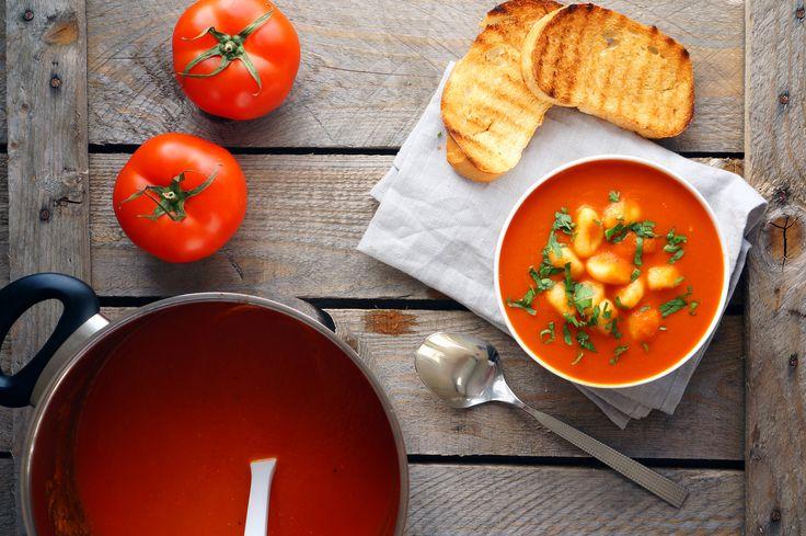 Томатный суп-пюре с ньокки, пошаговый фото рецепт, кулинарный блог