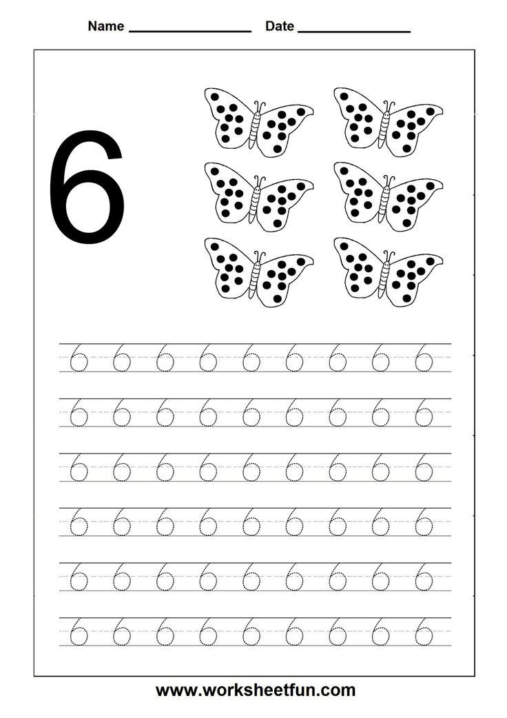 Number Tracing worksheet - 6