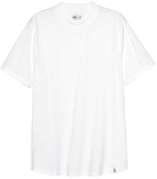 H&M - T-shirt with Ribbing - White - Men