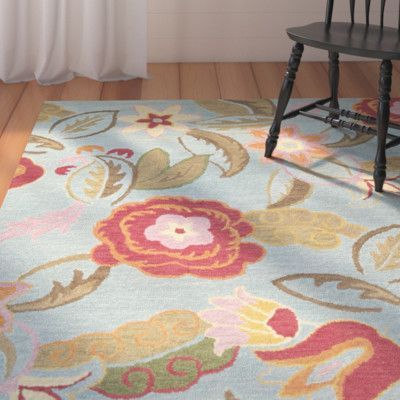 August Grove Canon Hand-Hooked Blue Area Rug Rug Size: 11' x 15'