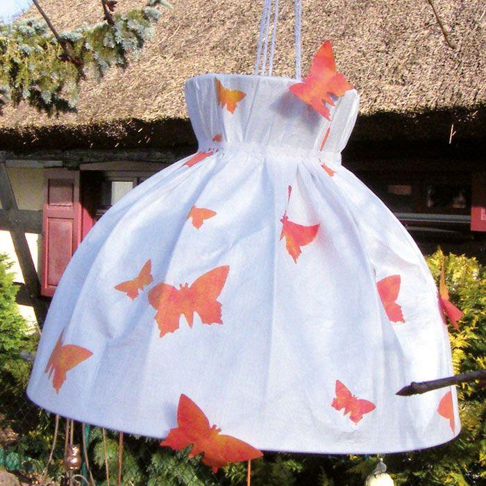 """Garten-Lampenschirm aus Tyvek (Idee mit Anleitung – Klick auf """"Besuchen""""!) - Für Garten oder Balkon fehlt noch eine dekorative, wetterfeste Beleuchtung? Dann basteln Sie ganz schnell einfach eine selbst!"""