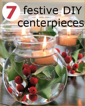 Christmas Centerpieces. Fill your home with the aroma and look of Christmas with these easy, cost effective designs.