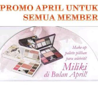 Promo April   Pure make up palette dan Seductive make up palette