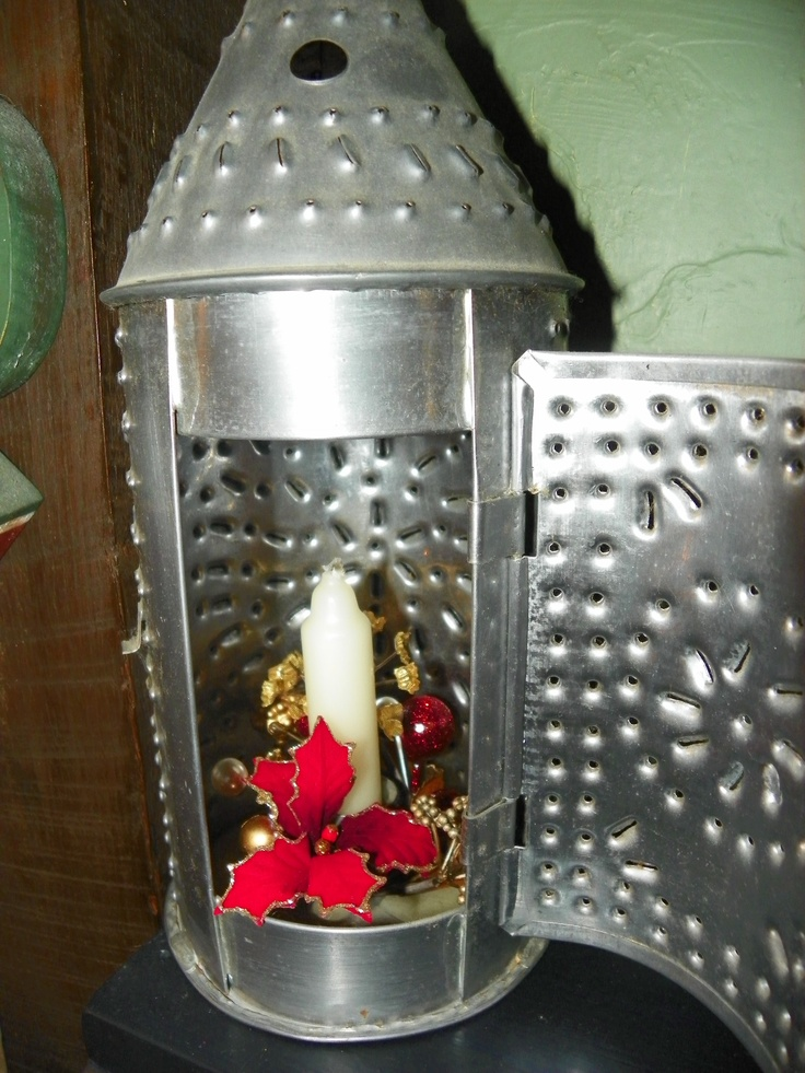 1000 images about tin work on pinterest - Punched metal candle holder ...