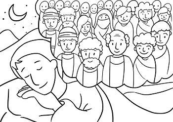 Jacob's dream - Genesis 28: 10-22 | Coloring pages ...