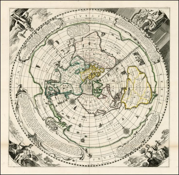 Flat Earth Map Four Corners Of The