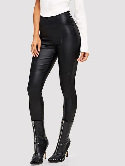 eb84f5ee21 Shop Pu Skinny Pants online. SheIn offers Pu Skinny Pants & more to fit  your fashionable needs.