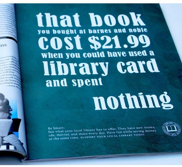 Library Use Ad Campaign by Samantha Benoit, via Behance