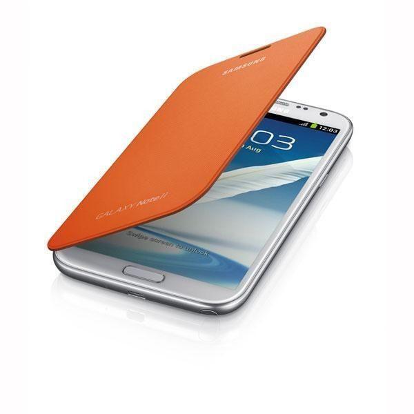 Samsung Galaxy Note II Flip Cover - Orange
