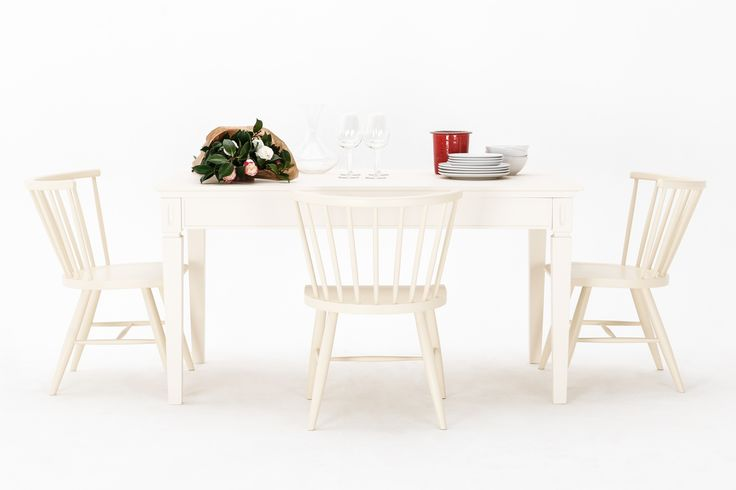 Allegra Dining Table in Off White