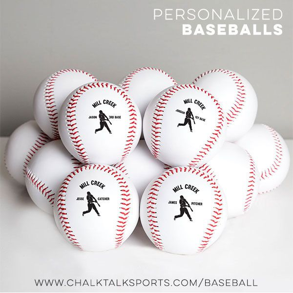Our Printed Baseballs Are Individually Printed On Official Sized Balls Customize Your Ball With Your Na Gifts For Baseball Players Custom Print Baseball Gifts