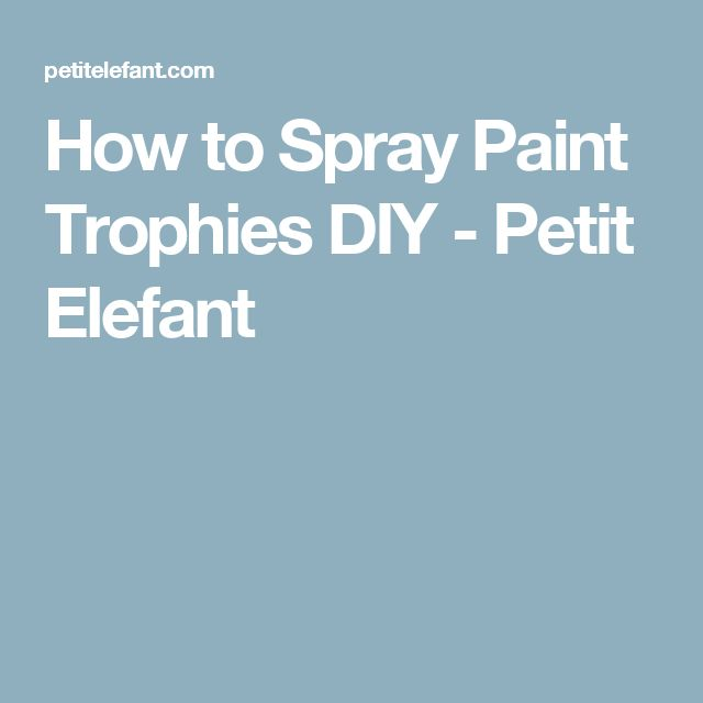 How to Spray Paint Trophies DIY - Petit Elefant