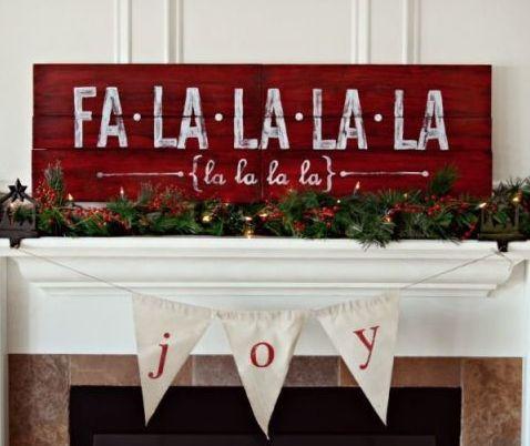 DIY WORKSHOP - Falalalala Wood Sign - Dec 12th PRIVATE PARTY  Tiffani