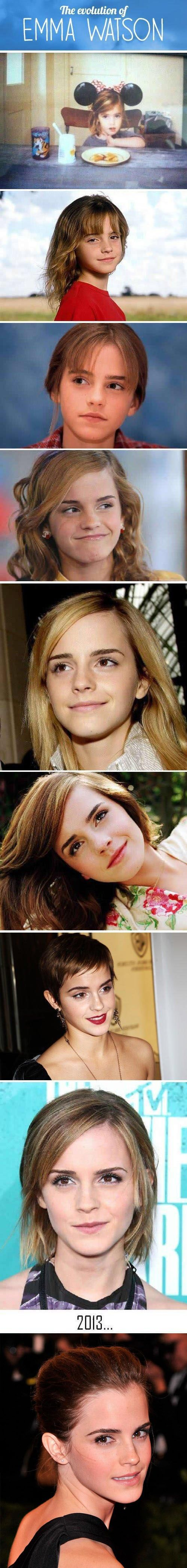 Evolution of Emma Watson