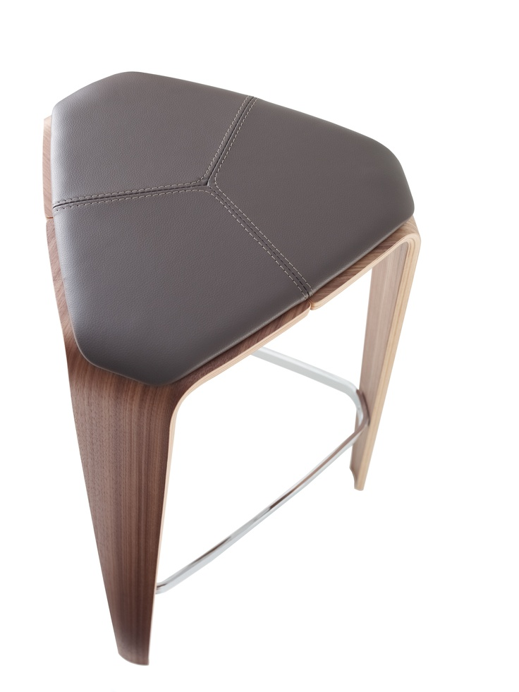 Tre barstool with upholstered seat pad - designed by Jehs+Laub - Davis Furniture