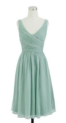 Grayed jade dress by j.crew
