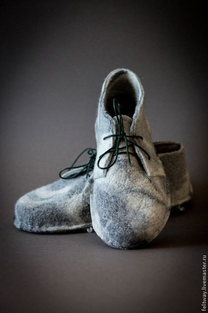 Обувь ручной работы. Заказать Дезерты черно-белые. Снежана Костина  (FELT WAY). Ярмарка Мастеров. Ботинки женские