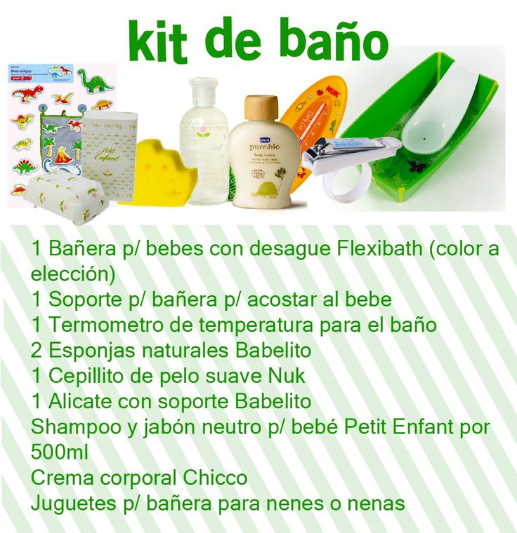 Kit Baño del Bebé — Enpañales.com.ar