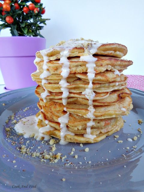 Pancakes Kαρότου/ Carrot Cake Pancakes | Cook And Feed