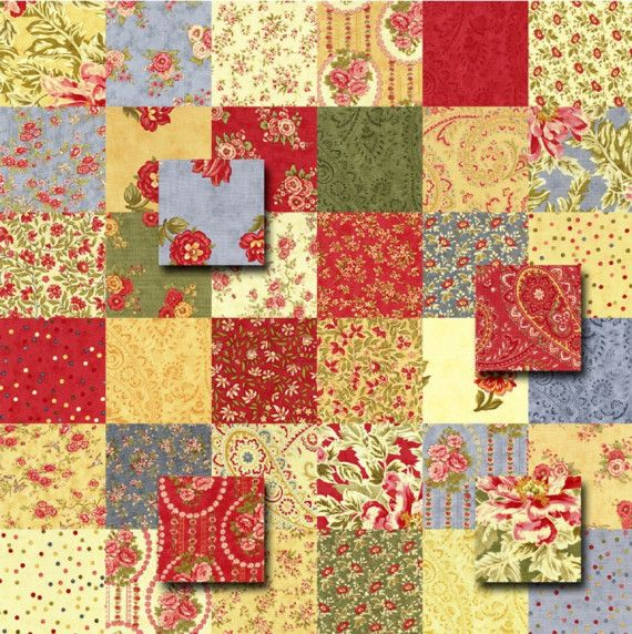 moda portugal charm pack quilt kit fabric squares quilt