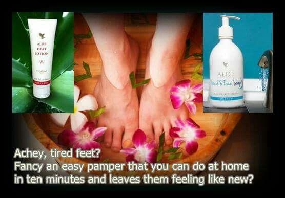1 pompje aloe hand & face soap, 1 duw op de tube aloe heat lotion, dit in warm water creëer je een zalige geur en ontspannend voetbad http://www.team4dreams.flp.com/home.jsf