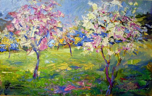 Primavera - olio su tavola 40x25 Giuseppe Faraone