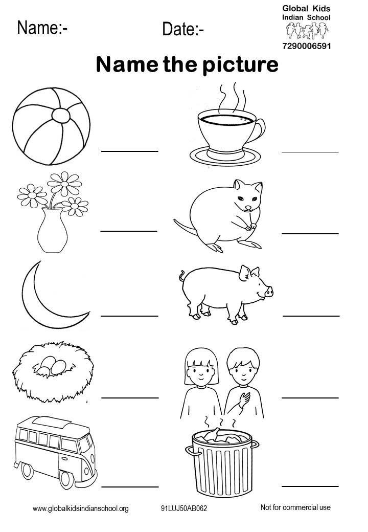Kindergarten Worksheet - Global Kids Kindergarten Worksheets, English  Worksheets For Kindergarten, English Worksheets For Kids
