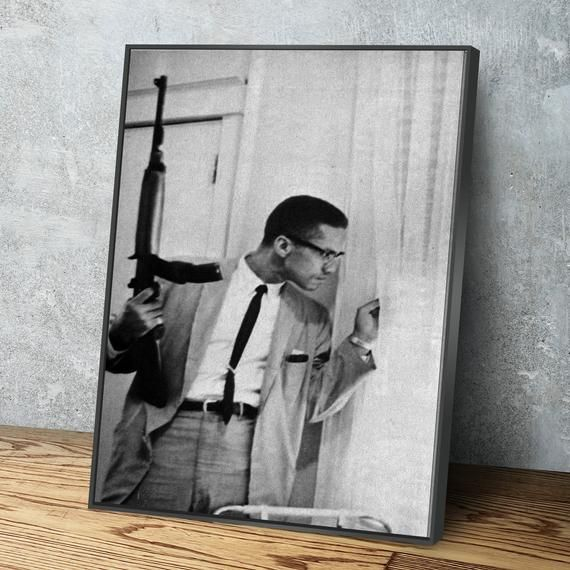 Malcolm X Poster Canvas Wall Art Civil Rights Black Lives Etsy Canvas Wall Art Wall Canvas Etsy Wall Art