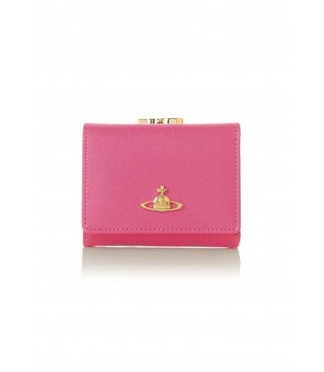 Vivienne Westwood Saffiano 1311 Small Clasp Purse Pink #Christmas2016