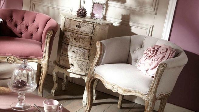 Salon romantique poudré