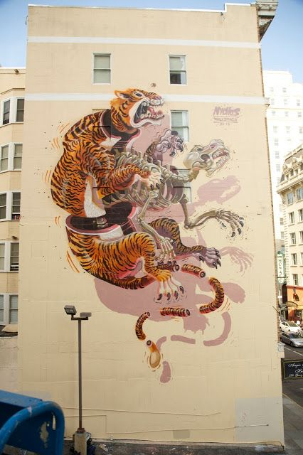 Nychos New Mural In San Francisco, USA StreetArtNews