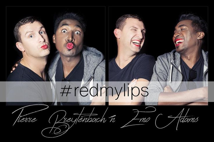 Thanks so much to the girls from @MUDSouthAfrica who was able to give red lips to 2 brave men for #RedMyLips 2015
