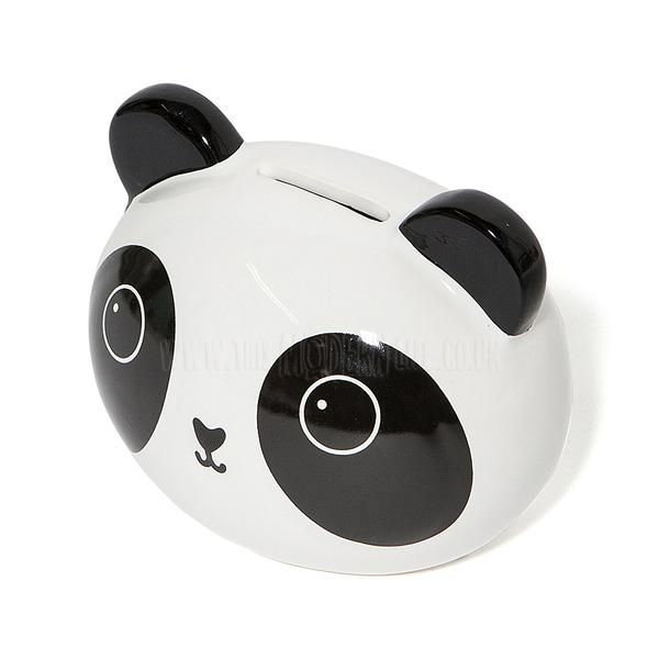 A black, white and cream stoneware Panda money box- a fun and modern alternative to a traditional piggy bank which may just prove enough to encourage your little one to put some pennies away. We also think this could be used as a thoughtful way of giving a cash gift. This little dude matches perfectly to other Panda items that we stock- perfect for a cute modern theme in the kids room. Browse the rest of our Sass & Belle range here for other items from our Kawaii friends collection (inclu...