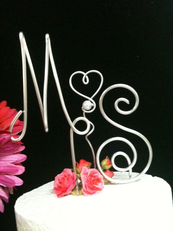 Made by Maria: Wire Wedding Cake Topper