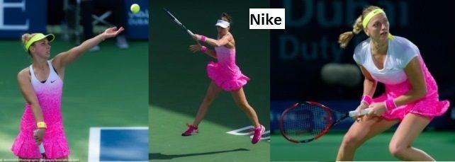 Sabine Lisicki, Lucie Safarova & Petra Kvitova were all pink in #Dubai