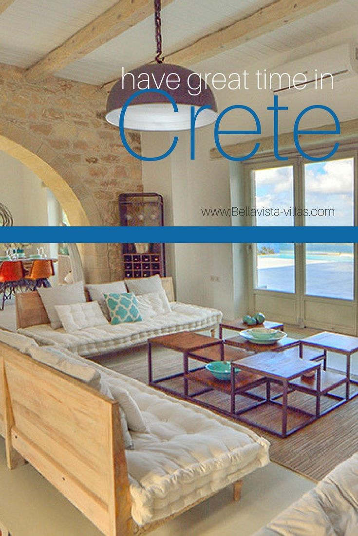 Let's go in Greece and discover this sublime villa located in Chania town.  More to see by clicking on the picture :) #GreeceHomes #LuxuryRental #CreteHolidays