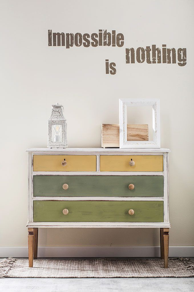 Cómo transformar una cómoda vieja en un mueble de estilo nórdico - https://decoracion2.com/transformar-una-comoda-mueble/ #Chalk_Paint, #Pintar_Muebles, #Restauración_De_Muebles