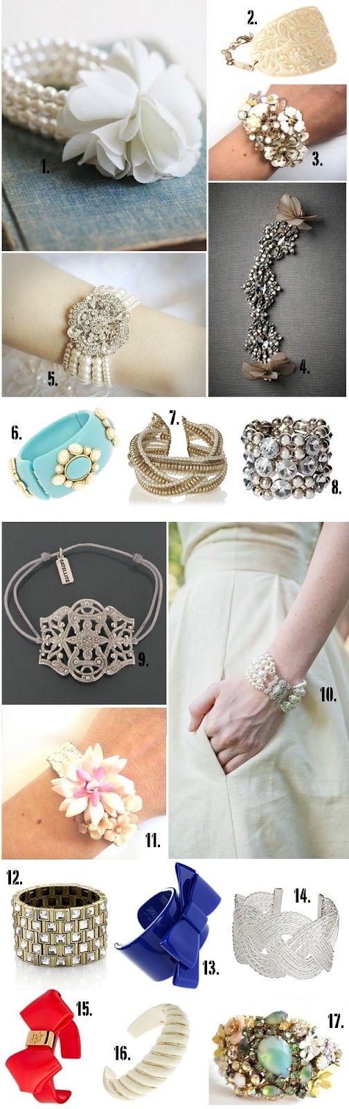 Trendy Wedding, blog idées et inspirations mariage ♥ French Wedding Blog: Juste un beau bracelet : sélection de 18 manchettes pour la mariée...