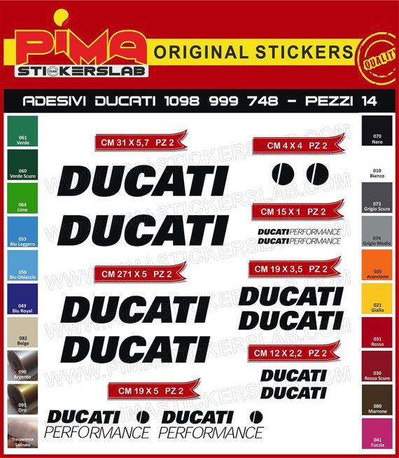 Adesivi Stickers kit DUCATI PERFORMANCE 1098 di PIMAstickerslab