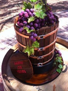 For a wine and cheese tasting party, this cake would definitely be a fantastic end to the evening.