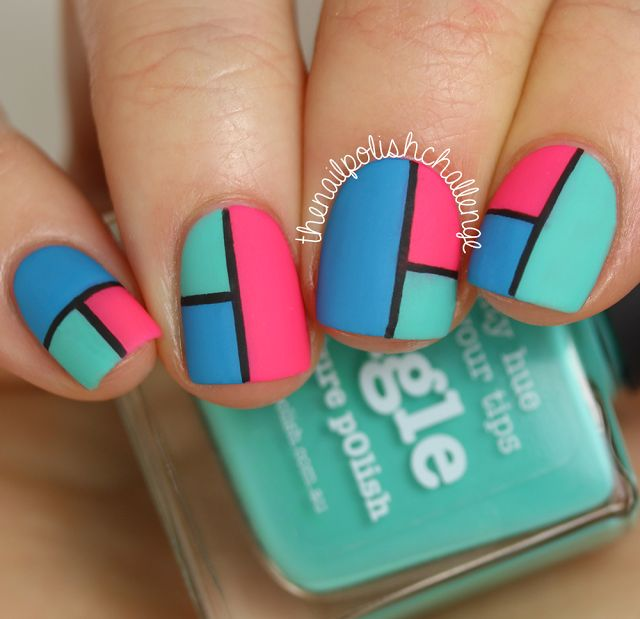 Best 25 color block nails ideas on pinterest subtle nail art picture polish swatch spam color blocking nail art prinsesfo Images