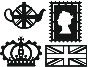 Mini Mica Masks - Set of 4 British