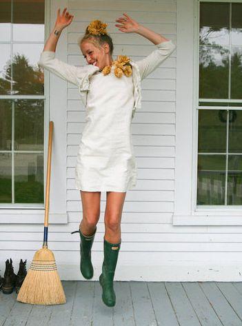 emerson made & hunter, green boots <3