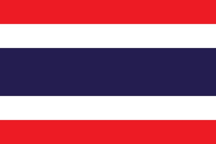 The Thailand flag was officially adopted on September 28, 1917.     Red is said to symbolize the blood of life, white the purity of the Buddhist faith, and blue the monarchy. The blue and white stripes were added to the flag during World War I.