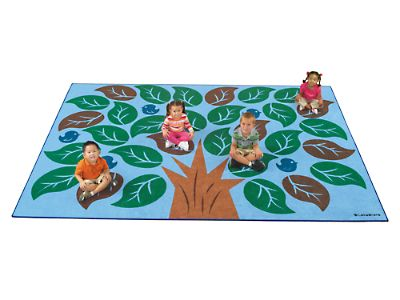 Colors of Nature® Classroom Carpets at Lakeshore Learning: kind of cute for the 'backyard' theme