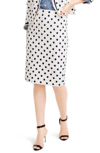 89a6ce16b J.Crew Polka Dot Textured Tweed Pencil Skirt in 2019 | The Most ...